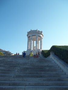 "Staircase wich allow the access from the Memorial War to the ""Passetto"" beach downstairs"