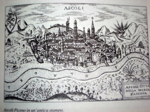 Ancient print of  Ascoli Piceno