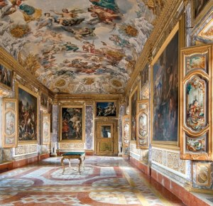 "The amazing frescos from the Eighteenth century ""Eneide Room"" inside  Buonaccorsi Palace."