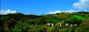 Beautiful panoramic view of Pievebovigliana